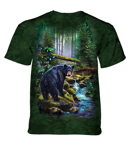 Bear T-Shirt | Black Bear Forest Adult-Gifts from DePanda