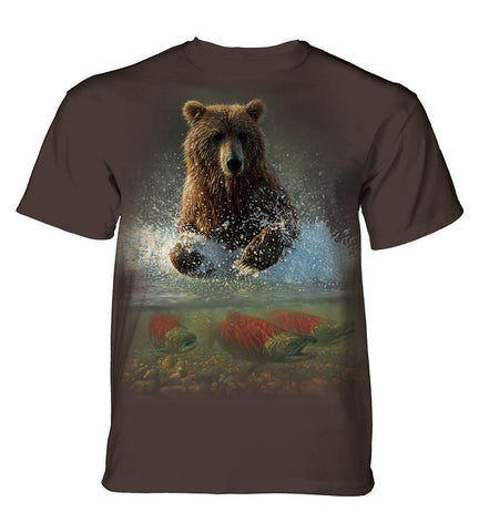 Bear T-Shirt | Lucky Fishing Hole Adult-Gifts from DePanda