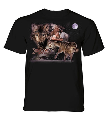 Wolf T-Shirt | Arapaho Wolf Moon Adult-Gifts from DePanda