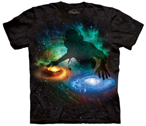 Space T-Shirt | Galaxy DJ Adult-Gifts from DePanda