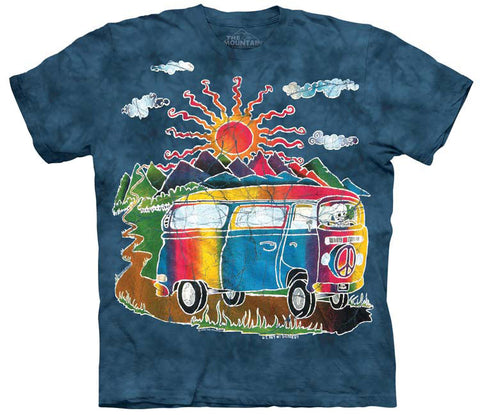 Mountain T-Shirt | Batik Tour Bus Adult-Gifts from DePanda