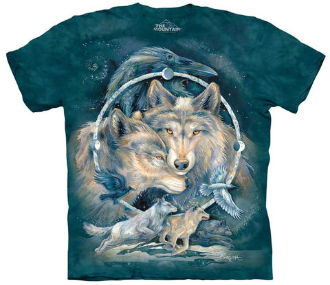 Wolf T-Shirt | In Spirit I am Free Adult-Gifts from DePanda