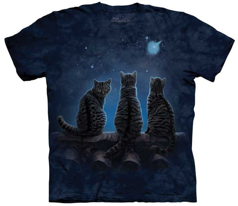 Cat T-Shirt | Wish Upon a Star Adult-Gifts from DePanda