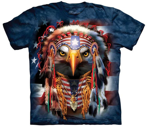Eagle T-Shirt | Native Patriot Eagle Adult-Gifts from DePanda