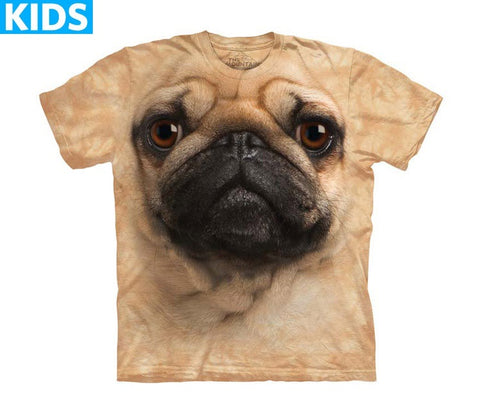 Dog T-Shirt | Pug Face Kids-Gifts from DePanda