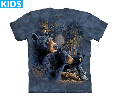 Bear T-Shirt | Find 13 Black Bears Kids-Gifts from DePanda