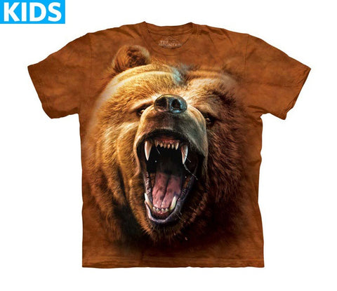 Bear T-Shirt | Grizzly Growl Kids-Gifts from DePanda