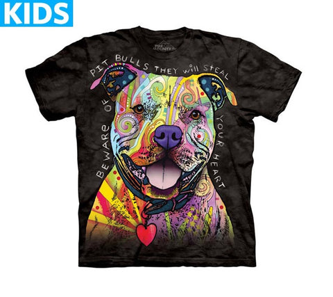 Dog T-Shirt | Beware of Pit Bulls Kids-Gifts from DePanda