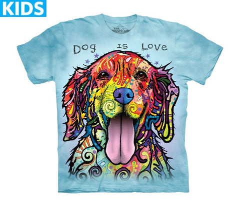 Dog T-Shirt | Dog Is Love Kids-Gifts from DePanda