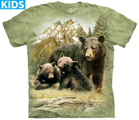 Bear T-Shirt | Black Bear Family Kids-Gifts from DePanda