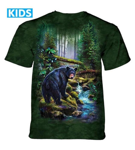 Bear T-Shirt | Black Bear Forest Kids-Gifts from DePanda