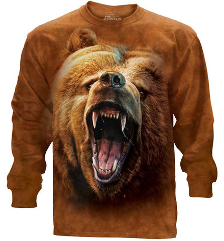 Bear Long Sleeve | Grizzly Growl-Gifts from DePanda