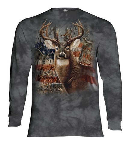 Deer Long Sleeve | Patriotic Buck-Gifts from DePanda