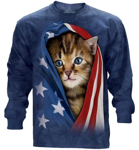 Kitten Long Sleeve | Patriotic Kitten-Gifts from DePanda