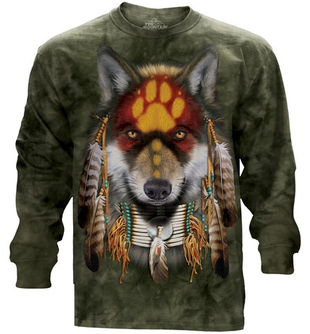 Indian Long Sleeve | Native Wolf Spirit-Gifts from DePanda