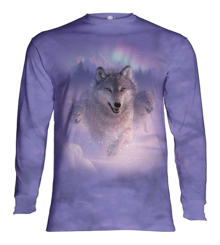 Wolf Long Sleeve | Northern Lights-Gifts from DePanda