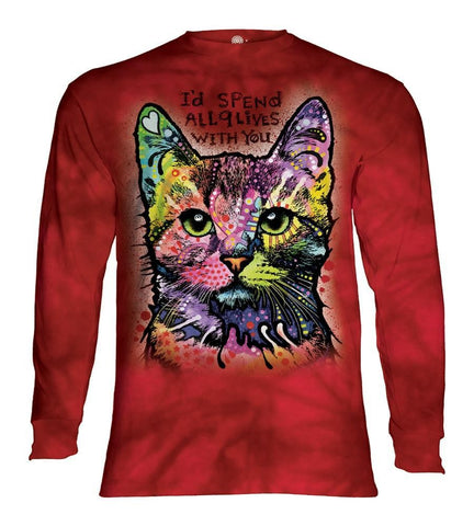Cat Long Sleeve | Russo 9 Lives-Gifts from DePanda