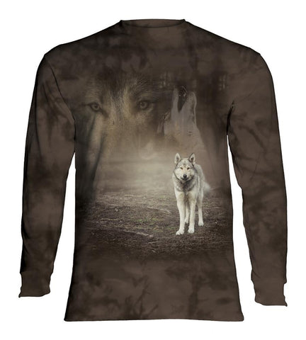 Wolf Long Sleeve | Grey Wolf Portrait-Gifts from DePanda