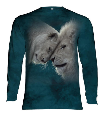Lion Long Sleeve | White Lions Love-Gifts from DePanda