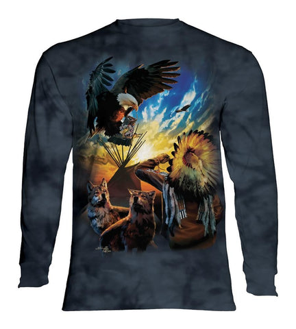 Indian Long Sleeve | Eagle Prayer-Gifts from DePanda