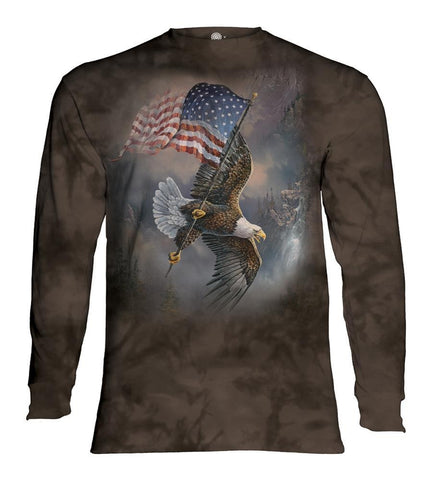 Eagle Long Sleeve | Flag-Bearing Eagle-Gifts from DePanda