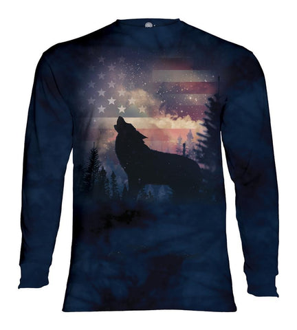 Wolf Long Sleeve | Patriotic Howl-Gifts from DePanda