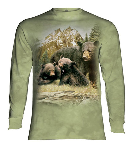 Bear Long Sleeve | Black Bear Family-Gifts from DePanda
