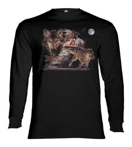 Wolf Long Sleeve | Arapaho Wolf Moon-Gifts from DePanda