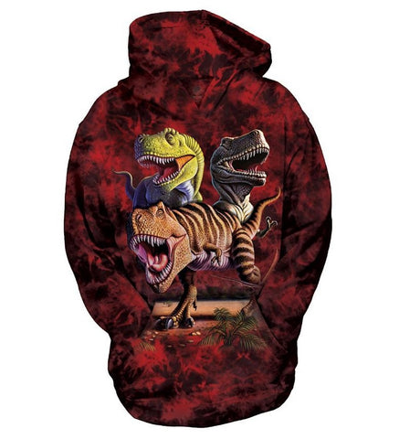 Dinosaur Hoodie Sweatshirt | Rex Collage Youth