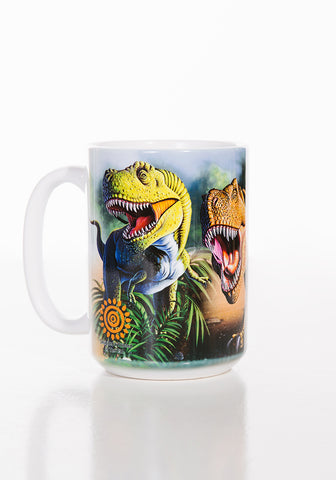 Dinosaur Coffee Mug | Rex Collage