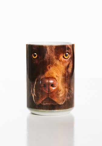 Dog Coffee Mug | Chocolate Lab Face-Gifts from DePanda