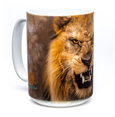 Lion Coffee Mug | Big Face Roaring Lion