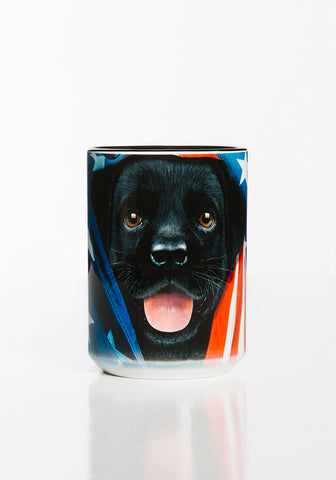 Puppy Coffee Mug | Patriotic Black Lab Pup-Gifts from DePanda