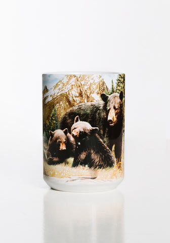 Bear Coffee Mug | Black Bear Family-Gifts from DePanda