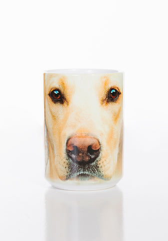 Dog Coffee Mug | Yellow Lab Portrait-Gifts from DePanda