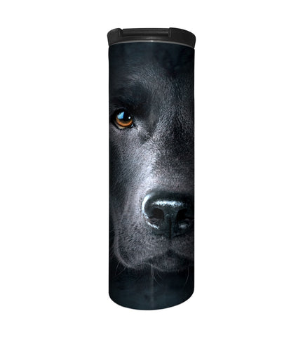 Dog Travel Mug | Black Lab Face-Gifts from DePanda