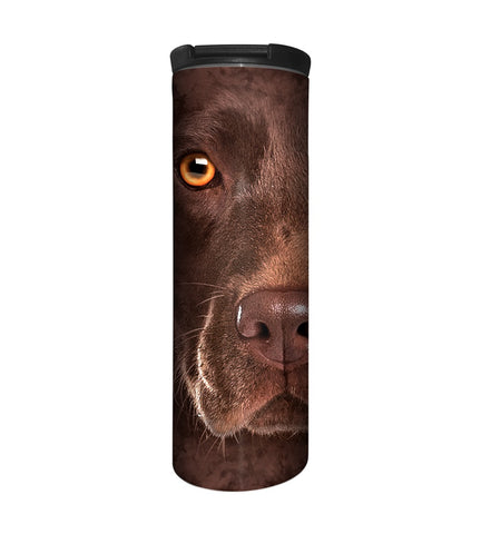 Dog Travel Mug | Chocolate Lab Face-Gifts from DePanda