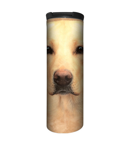 Dog Travel Mug | Yellow Lab Portrait-Gifts from DePanda