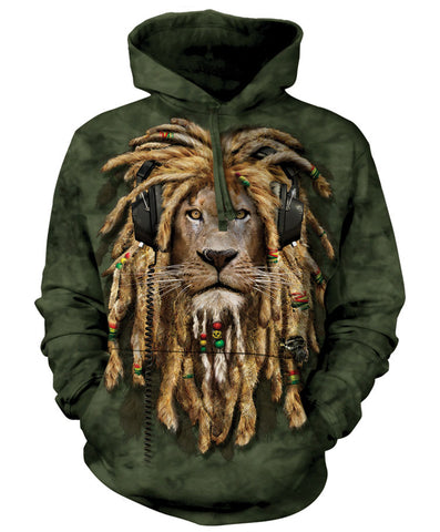 Lion Hoodie Sweatshirt Adult | DJ Jahman-Gifts from DePanda
