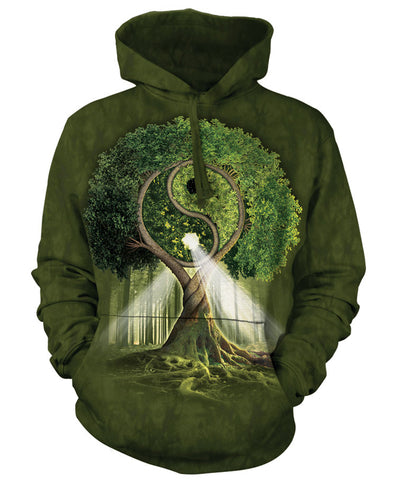 Celtic Hoodie Sweatshirt Adult | Yin Yang Tree-Gifts from DePanda