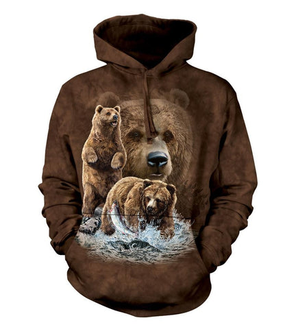 Bear Hoodie Sweatshirt Adult | Find 10 Brown Bears-Gifts from DePanda
