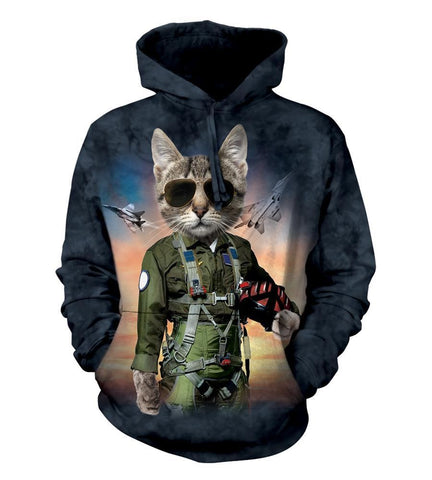 Cat Hoodie Sweatshirt Adult | Tom Cat