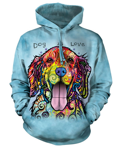 Dog Hoodie Sweatshirt Adult | Dog is Love-Gifts from DePanda