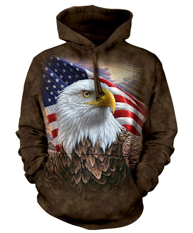Eagle Hoodie Sweatshirt Adult | Independence Eagle-Gifts from DePanda