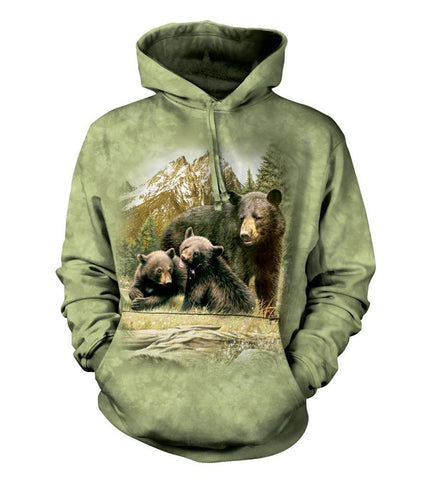 Bear Hoodie Sweatshirt Adult | Black Bear Family-Gifts from DePanda