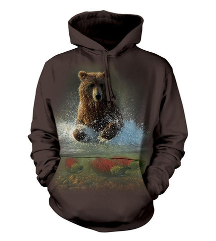 Bear Hoodie Sweatshirt Adult | Lucky Fishing Hole-Gifts from DePanda
