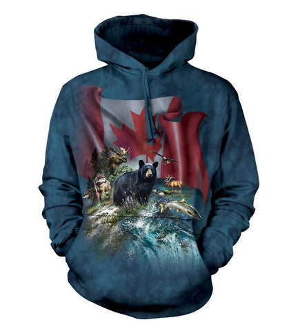 Mountain Hoodie Sweatshirt Adult | Canada The Beautiful