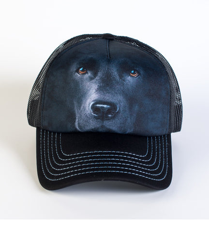 Dog Trucker Hat | Black Lab Face-Gifts from DePanda