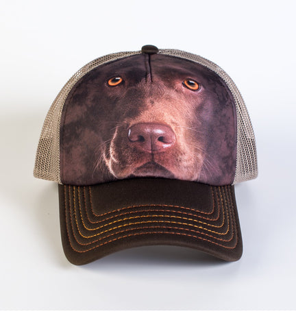 Dog Trucker Hat | Chocolate Lab Face-Gifts from DePanda
