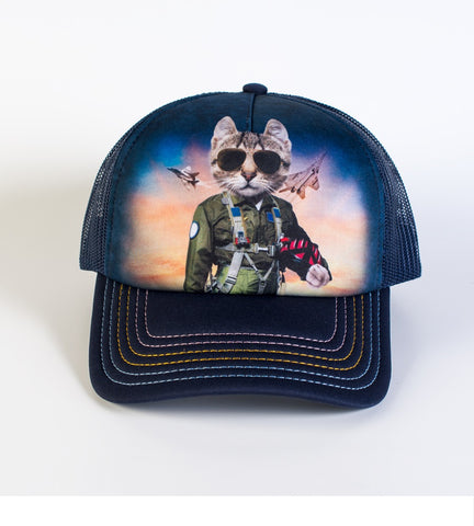 Cat Trucker Hat | Tom Cat-Gifts from DePanda